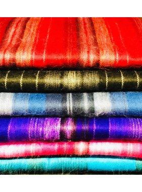 1 Foulard rayé Alpaga - Choix de couleur