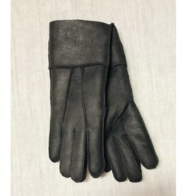 Women Black Shearling gloves