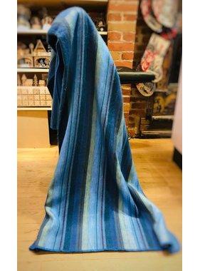 Jeté de laine Alpaga -  Bleu