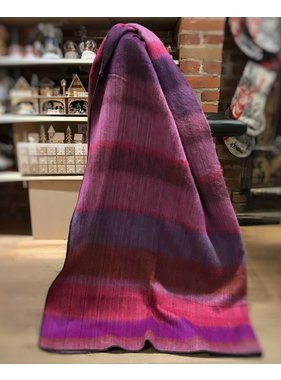 Jeté en laine d'Alpaga - Rouge/pourpre/fushia