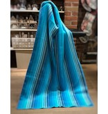 Jeté de laine Alpaga -  Bleu pâle