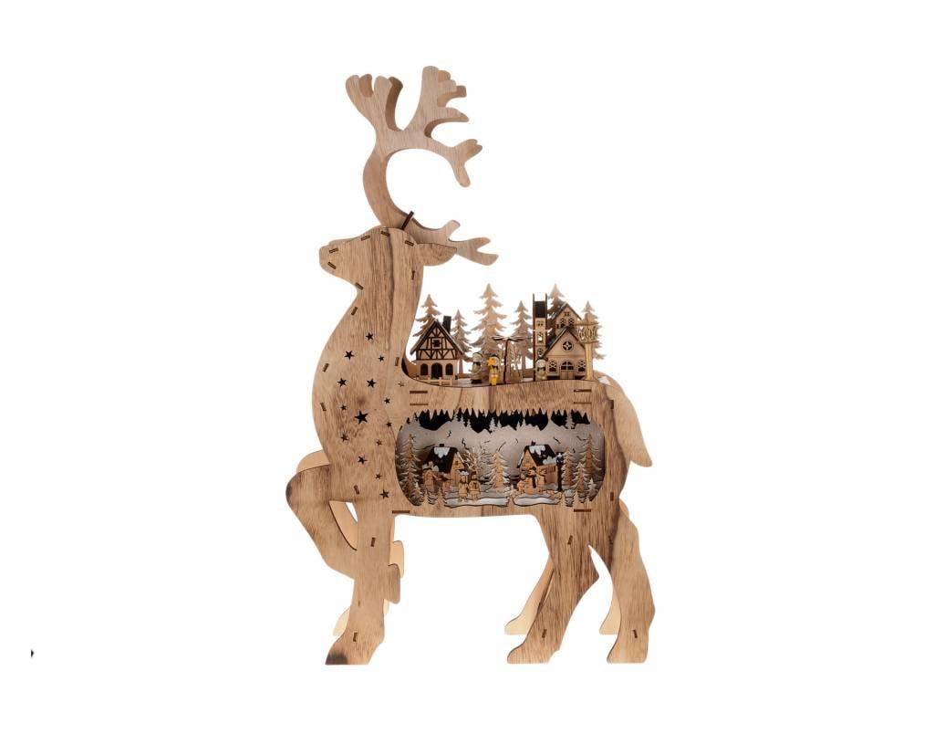 "Deer village 28x17"""