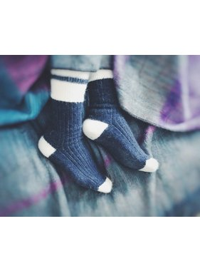 Alpaca DNA Blue Tradition socks - 80% Alpaca wool
