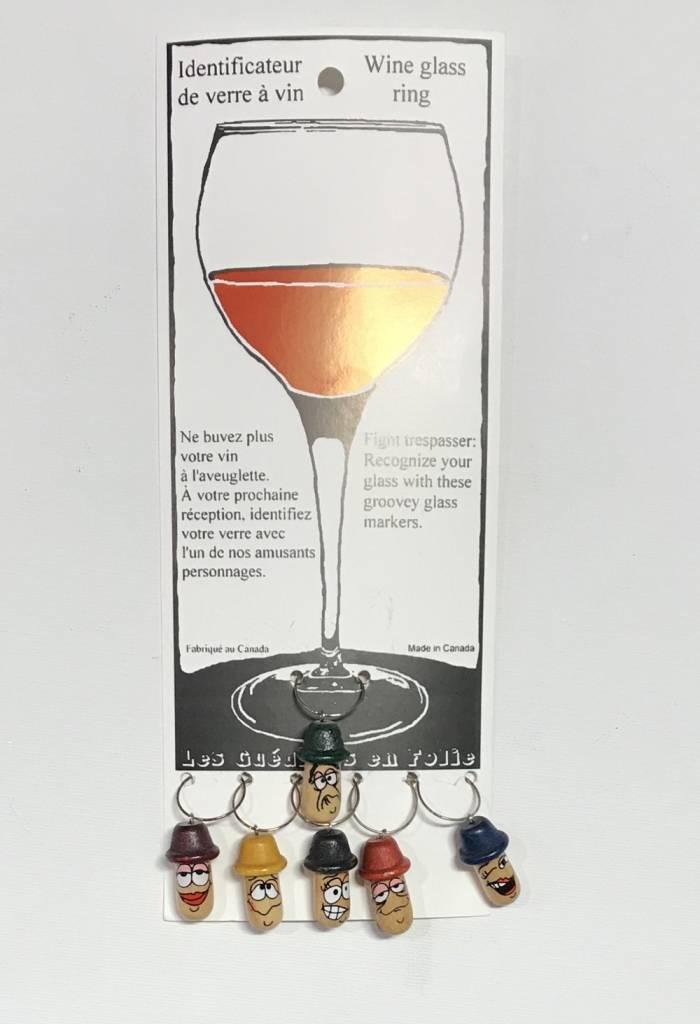 Les Guédines en Folie Wine glass rings