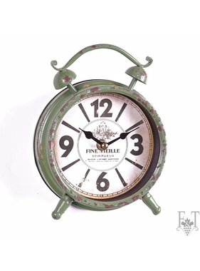 Antique Wall Clock with a Rope, Rustic Collection, Brown
