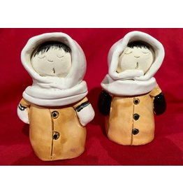 Inuit Ceramic Salt and Pepper Shaker Set