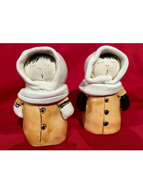 Inuit Ceramic Salt and Pepper Shaker Set