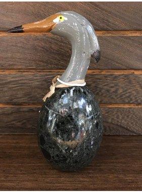 Heron on Onyx stone