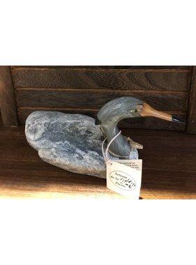 Heron tête grise calcaire