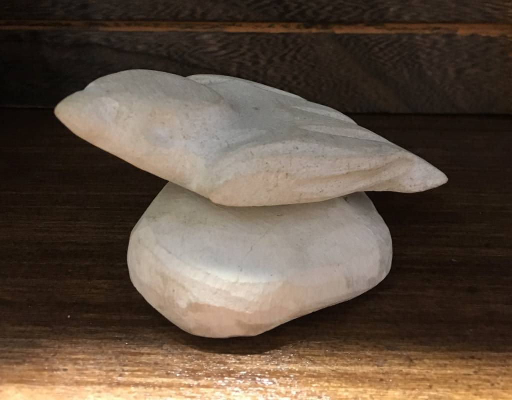 Bird stone sculpture