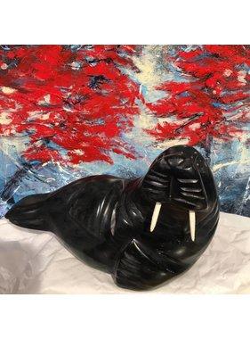 Marosan enr Phoque sculpture pierre de savon