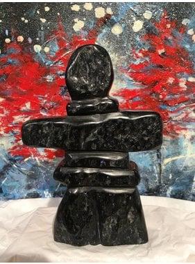 Marosan enr Inukshuk soapstone sculpture