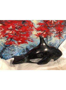 Marosan enr Orca whale rock sculpture