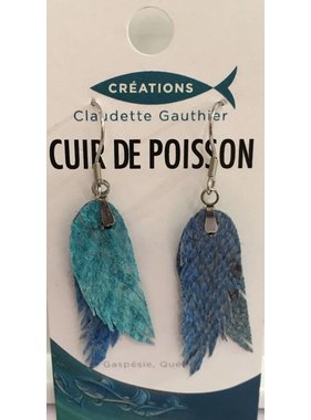 Cod Fish Feather Earrings
