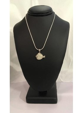 Cod Fish Pendant with sterling silver chain