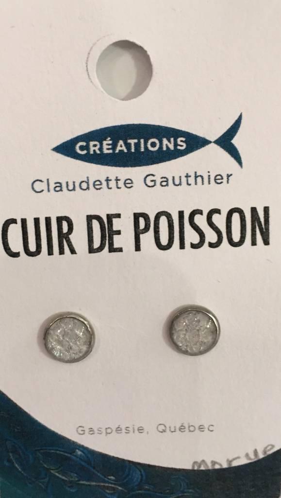 Cod Fish Leather Earrings