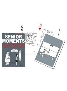 Cartoon playing Cards senior moments