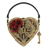 Mary Frances Handbags Key To My Heart Embellished Heart Lock & Key Top Handle Bag