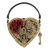 Mary Frances Handbags La clé de mon coeur - Sac avec serrure et poignées sur le dessus