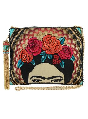 Mary Frances Handbags Frida Crossbody Clutch Handbag