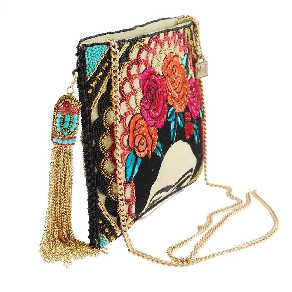 Mary Frances Handbags Sac à main à bandoulière Frida avec broderies de perles