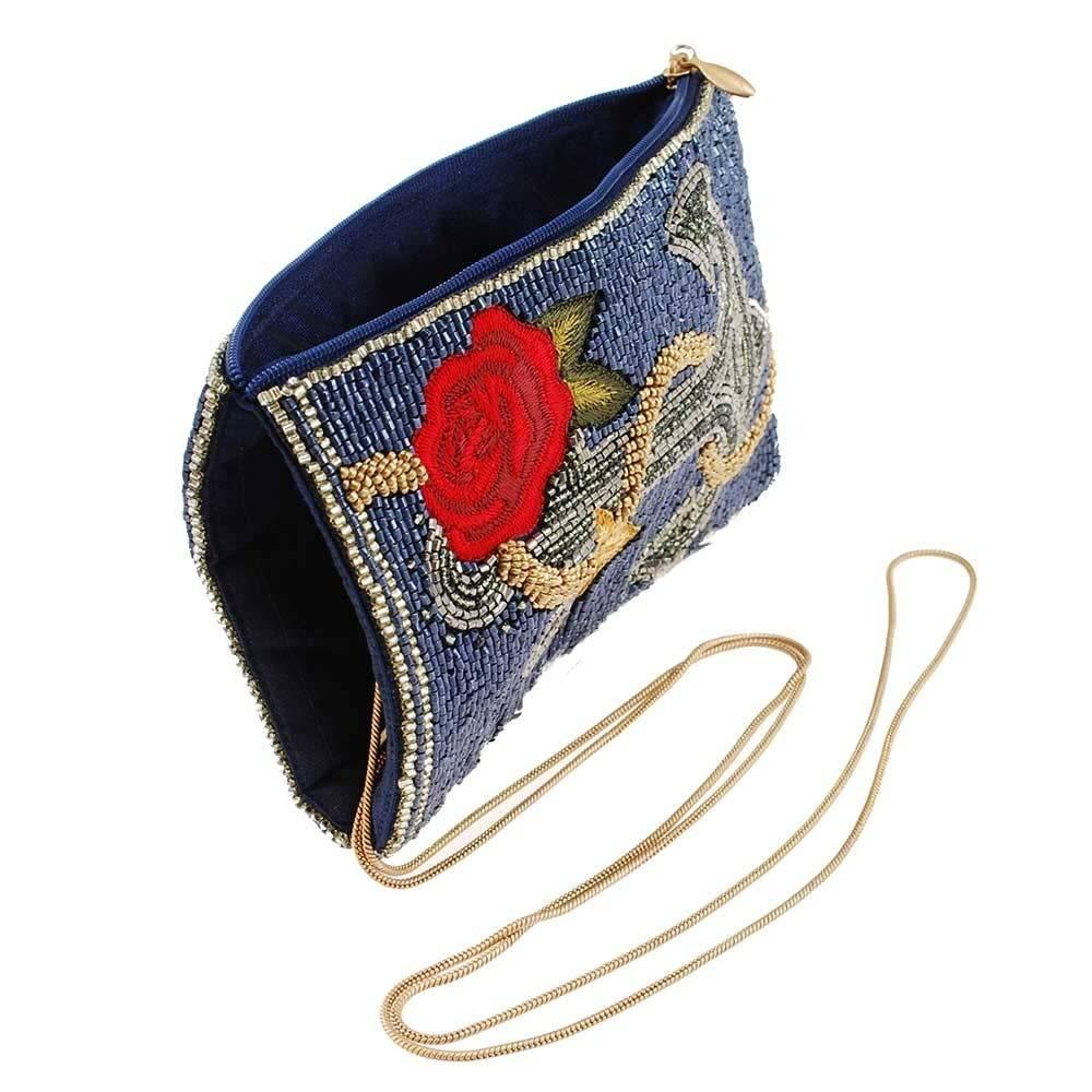 Mary Frances Handbags Anchor Yourself Beaded Nautical Theme Crossbody Phone Bag