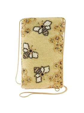 Mary Frances Handbags Oh Honey Beaded Honey Bee Crossbody Phone Bag
