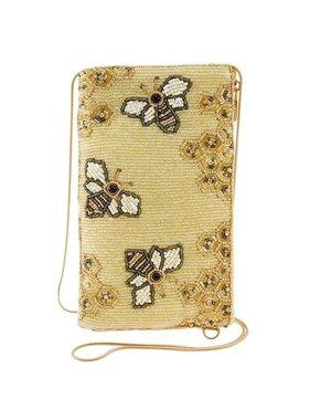 Oh Honey Beaded Honey Bee Crossbody Phone Bag