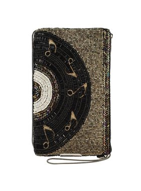 Mary Frances Handbags Off The Record Beaded Music Record Crossbody Bag