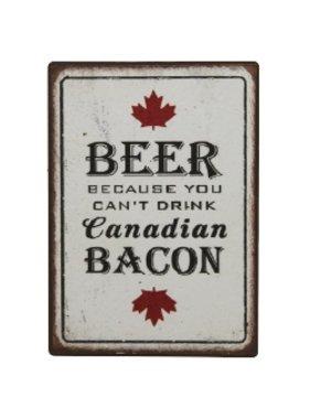 Fridge Magnet Beer Bacon