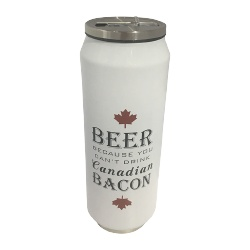 Water Bottle Beer and Bacon