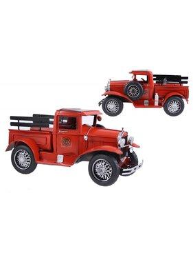 Antique Red Metal Fire Truck