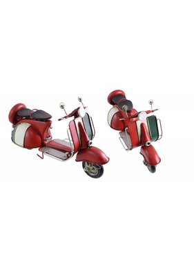 Antique Red White Scooter