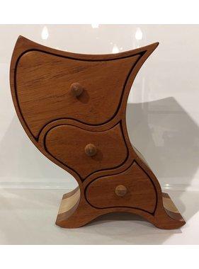 Coffre à bijoux en bois exotiques Collection « KWELE »