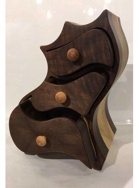 Coffre à bijoux en bois exotiques Collection « IJAW »