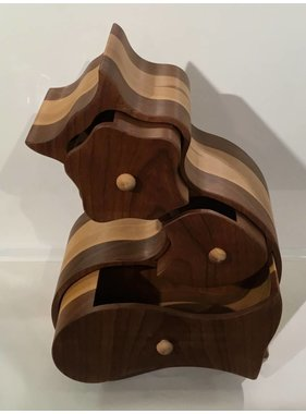 """Exotic wood jewel box """"CAT"""" collection"""