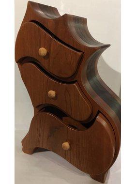 Coffre à bijoux en bois exotiques Collection « KAKWA »