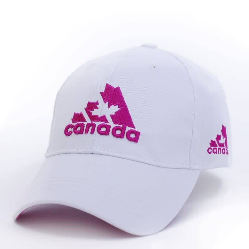 WHITE/PINK CANADA ADIDAS 3D EMBROIDERY CAP