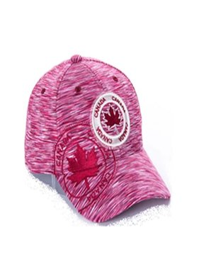 MAROON CANADA STAMP EMBROIDERY CAP