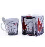 WHITE/RED MONTRÉAL LOVE IN THE CITY 13 OZ MUG