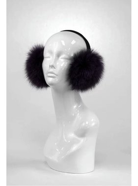 Mitchie's matchings BLACK MINK FUR EARMUFF