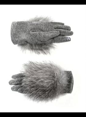Mitchie's matchings Gants tissées avec fourrure de renard