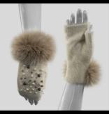 Mitchie's matchings Gants avec perles et Fourrure de Renard