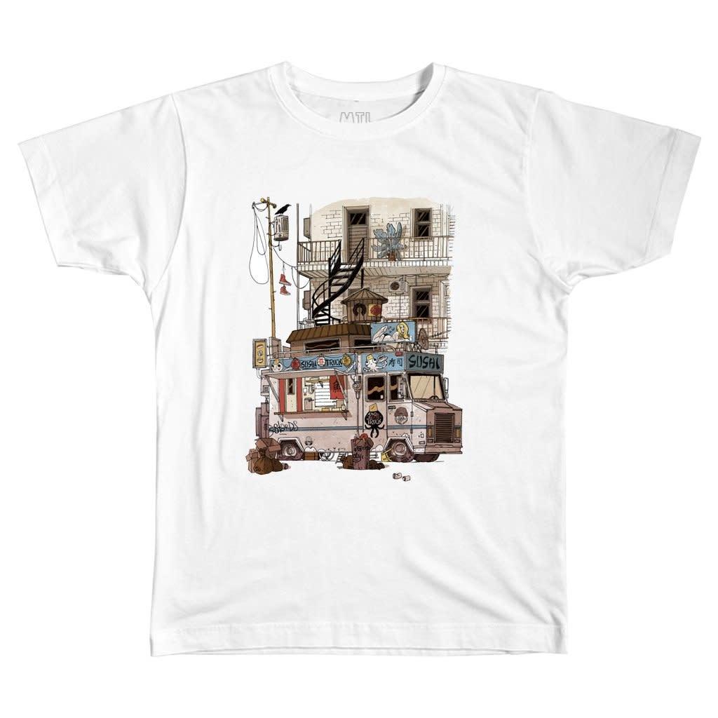 T-shirt Foodtruck - Blanc