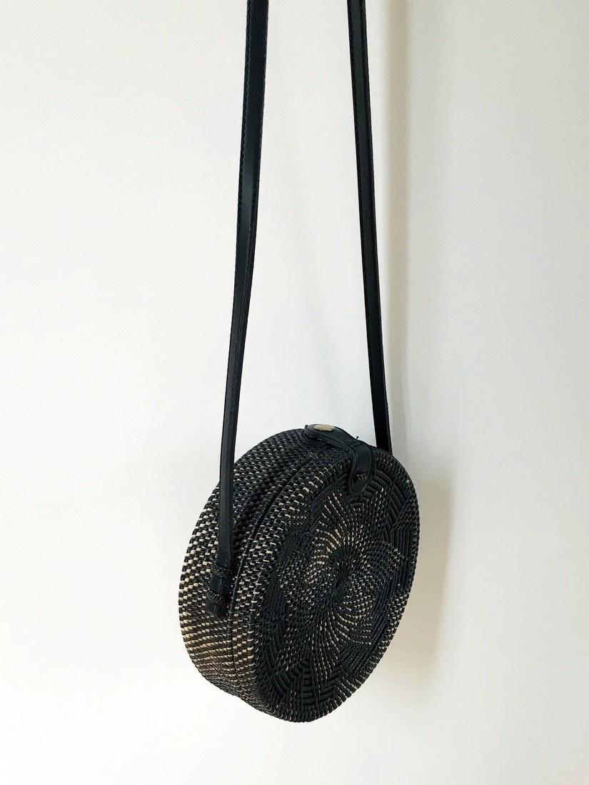 Rattan Gypsea Clara bag - Black