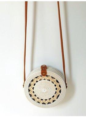 Rattan Flora bag - White