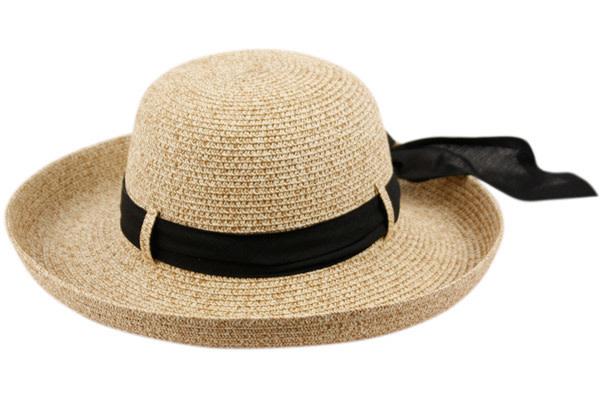 CL2691 PAPER STRAW SUN BUCKET HATS