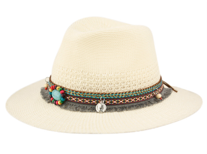 Hat Fedora with beads