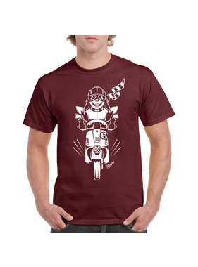 iBuzzz T-shirt Balade en Scooter - Unisexe