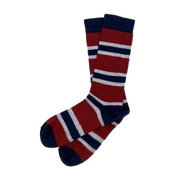 Alpaca PK Striped  Alpaga Maroon Socks